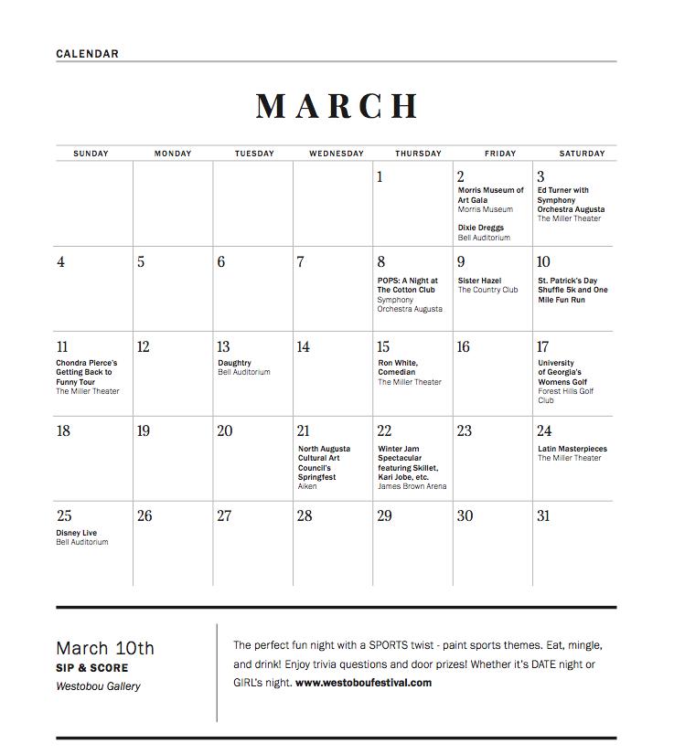 feb and march 2018 calendar