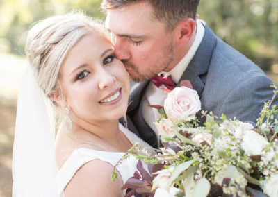 Mr. & Mrs. Kaleb Newsome; Photo by Hannah Marie Photography