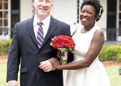 Mr. and Mrs. Brian Stewart; Photograph by John Antaki