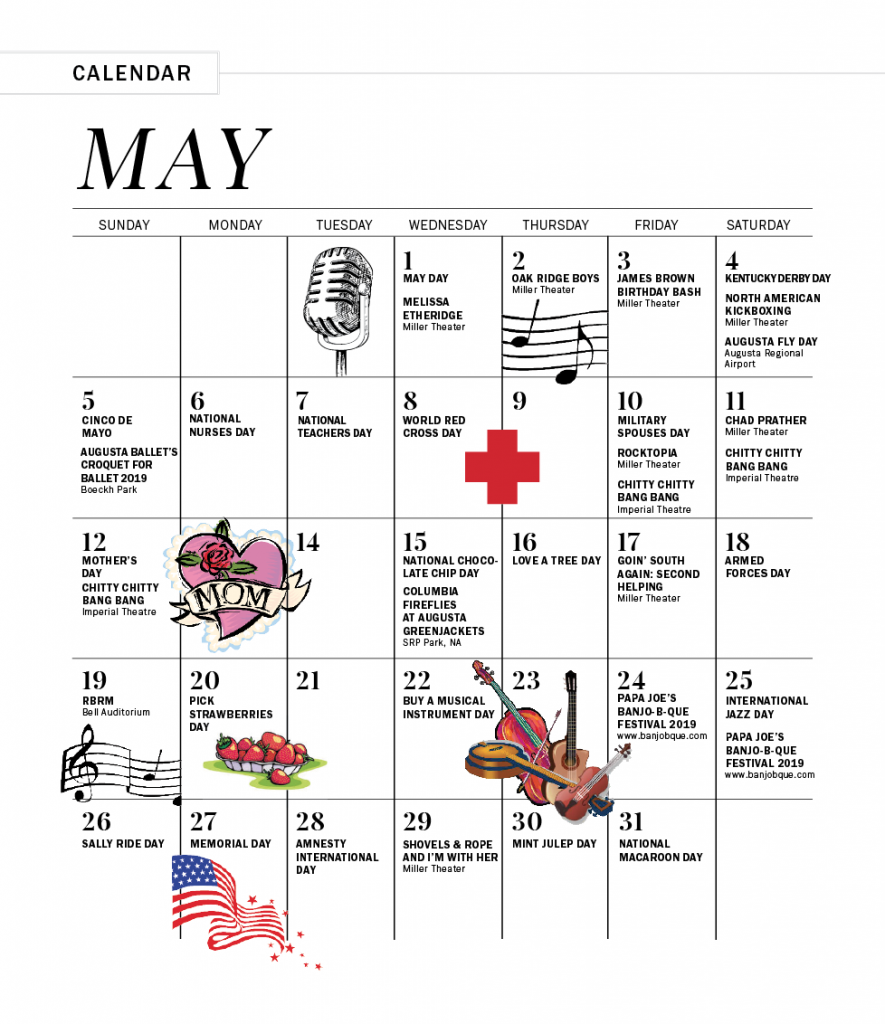 May 2019 Calendar of Events - Augusta Magazine